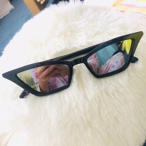Other - Mirrored Cat Eyes Retro Vintage Sunglasses